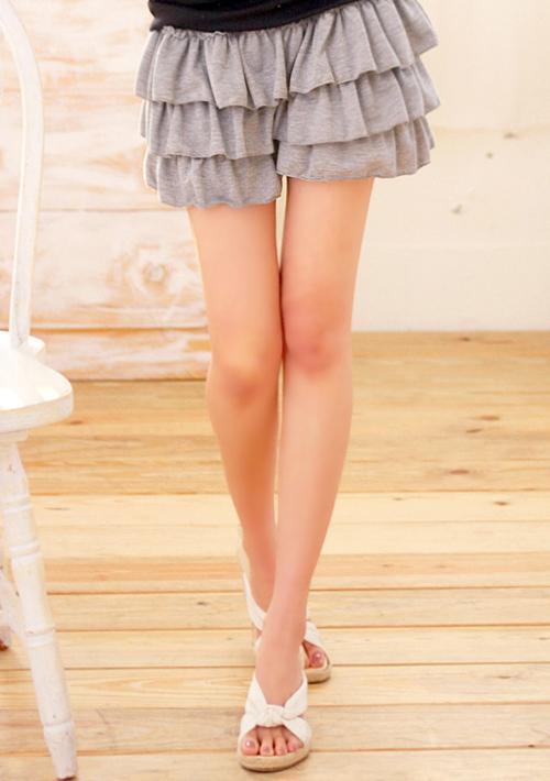 青春洋溢鬆緊蛋糕短褲裙