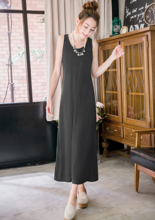 層次穿搭韓系背心長洋裝 M~XL