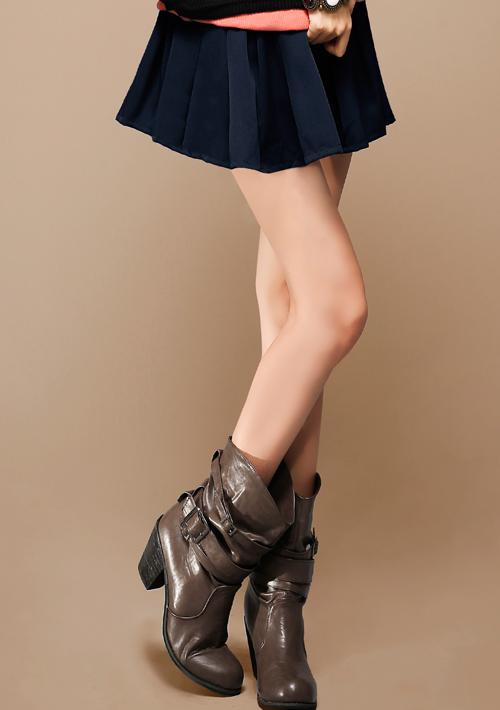 輕便美型百摺口袋褲裙