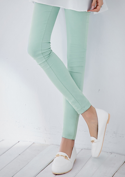 超強顯瘦超彈性鉛筆褲