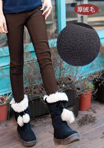 超保暖加厚絨毛鉛筆褲