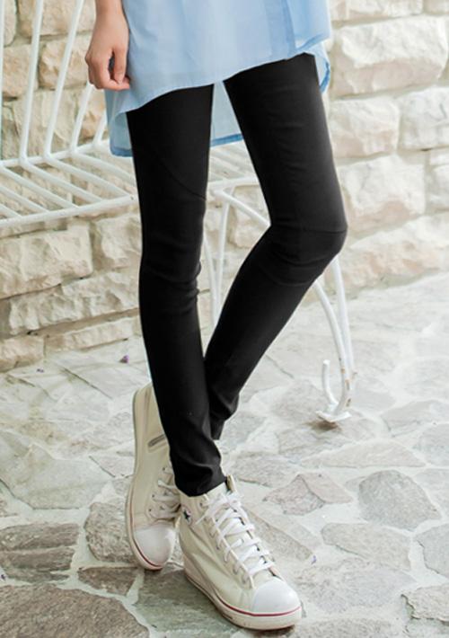 激瘦豹紋修身鉛筆褲
