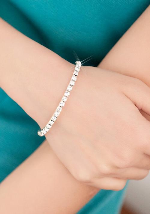 璀璨光芒亮鑽精緻手環