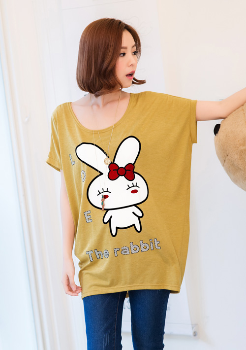 愛戀甜心兔子蝴蝶結寬袖上衣