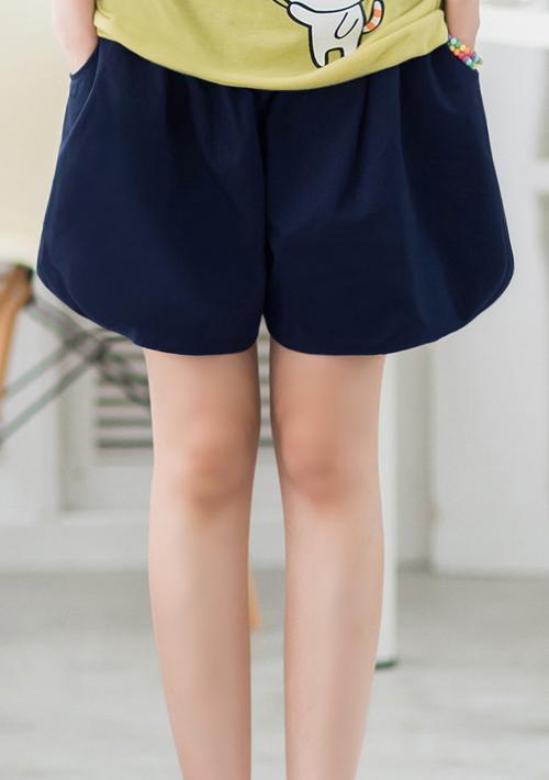 雙面穿寬版卡其褲裙
