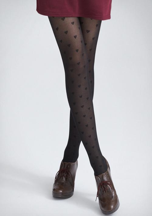 美腿顯瘦格紋/蝴蝶結/愛心透膚襪
