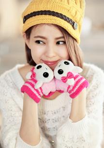 可愛動物觸控手套