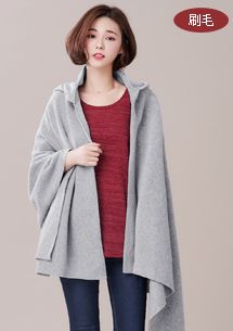 溫暖防寒連帽斗篷圍巾