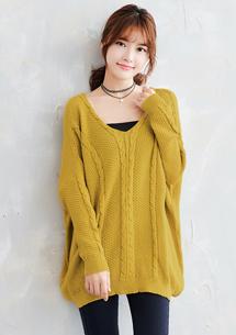 輕穿美學麻花針織毛衣