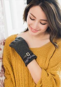 輕柔蕾絲邊典雅手套