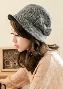 甜美蝴蝶結法式名媛帽