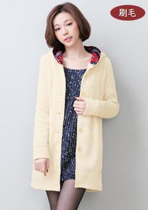 【限時$249】名媛美姬格紋蝴蝶結排釦外套