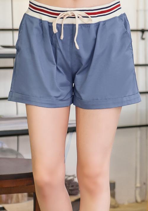 百搭雙口袋休閒短褲M~L