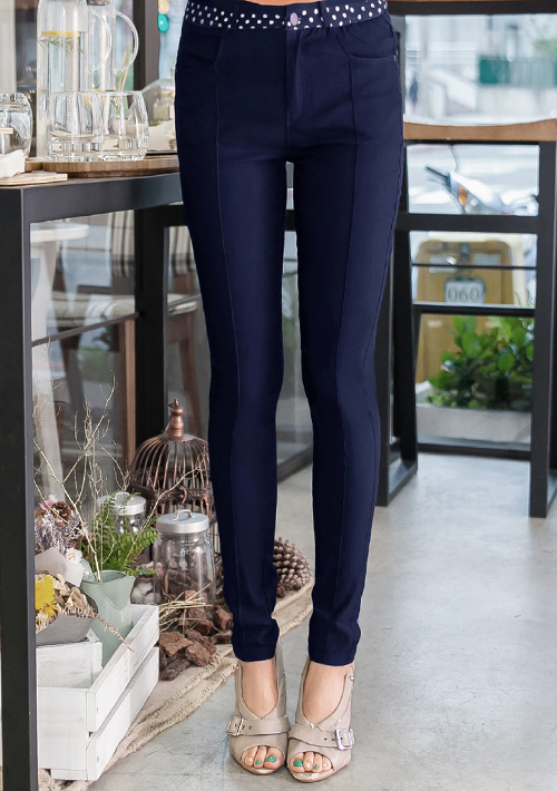 修身輕盈顯瘦彈力窄管褲