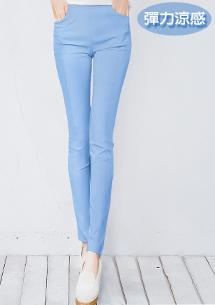 超修身顯瘦彈力涼感鉛筆褲