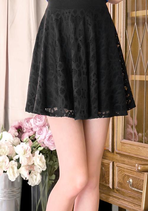 無限甜美蕾絲傘擺短裙
