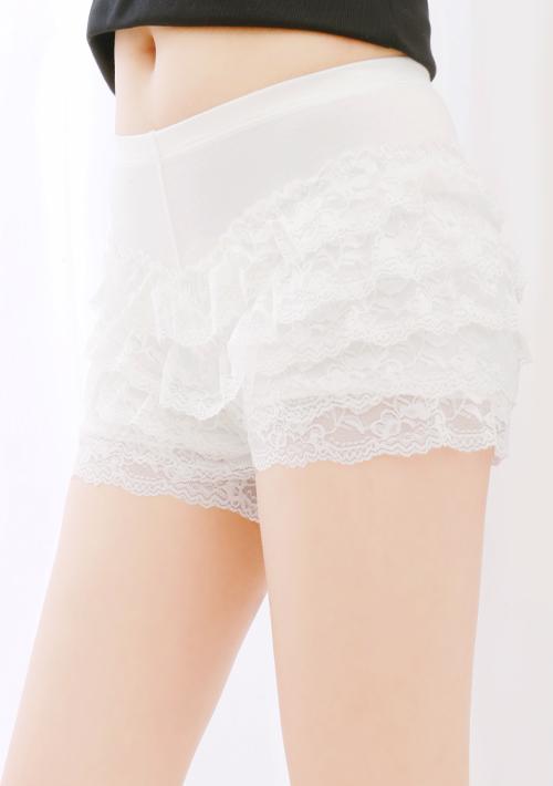 甜美蕾絲花邊安全褲