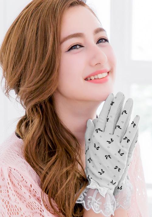 夏季防曬蕾絲造型手套