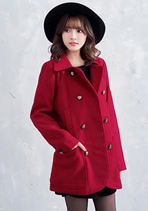 典雅英式雙排釦大衣外套