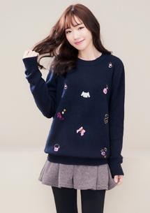 夢幻臻品精緻刺繡毛衣