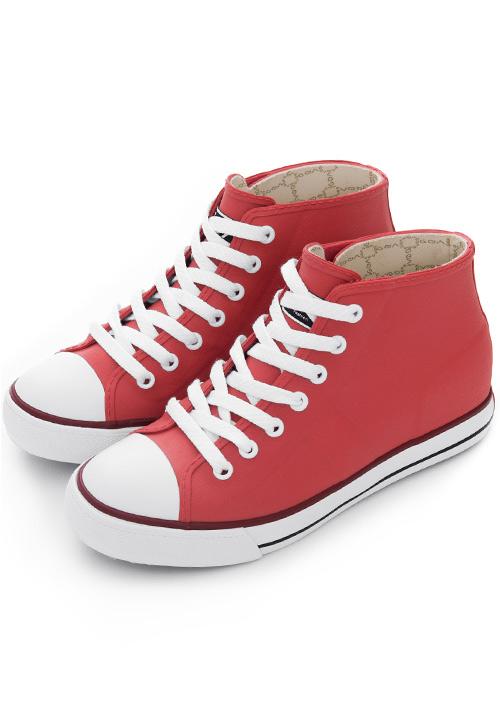 街頭時尚防水內增高雨鞋