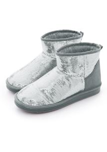 璀璨閃耀亮片內增高短筒雪靴