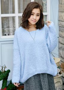 溫暖魅力棉花糖絨寬版毛衣