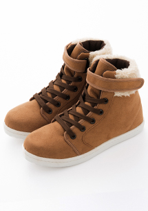 韓系絨毛麂皮內增高休閒鞋
