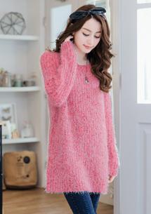 甜漾活力混色針織毛衣