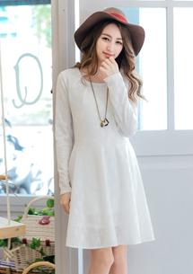 甜美端莊菱紋絲柔洋裝