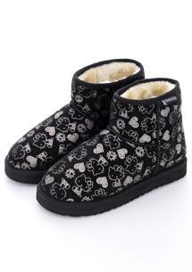 Kitty舒暖內絨毛短筒雪靴