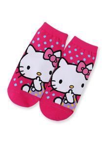 Hello Kitty柔軟棉質短襪
