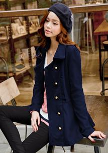 時尚風貌雙排釦合身外套