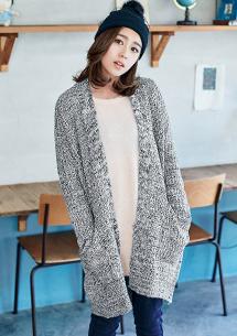 低調奢華開襟針織毛衣外套