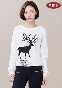 冬季限定糜鹿內刷毛上衣