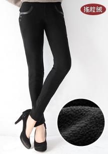 時尚顯瘦保暖搖粒絨長褲