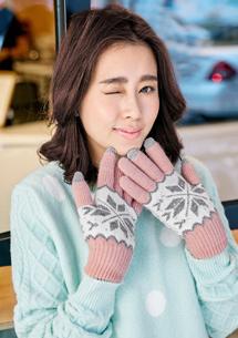 暖感內絨毛針織觸控手套