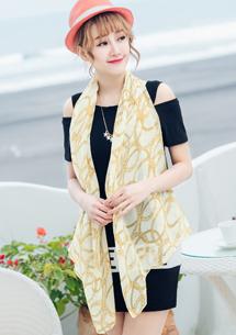 名媛風采鍊條雪紡絲巾