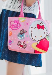Hello Kitty 手提束口托特包