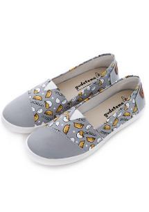 蛋黃哥舒軟帆布休閒鞋