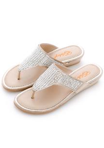 璀璨亮鑽夾腳拖鞋