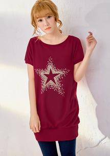 璀璨星星燙鑽長版上衣