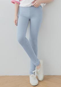 柔感超彈力舒適內搭褲-灰藍