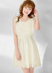 名媛甜心蕾絲雪紡洋裝