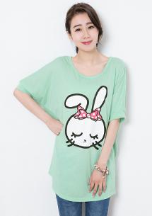 蝴蝶結兔兔寬版上衣