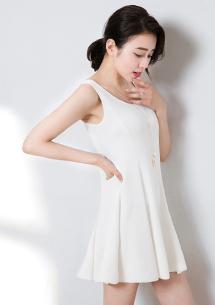 修身視覺壓紋百搭小洋裝