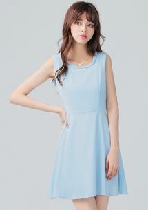 高雅名媛麻花編織領洋裝