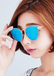 炫彩反光復古太陽眼鏡