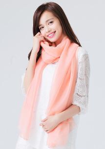 純色百搭絲質絲巾