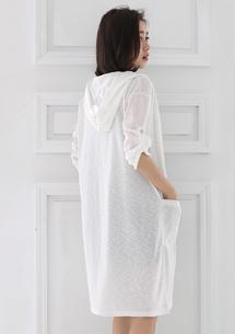 反折釦修身長版外套